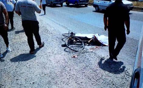 حادثه دلخراش؛ له شدن زن دوچرخه سوار+ عکس