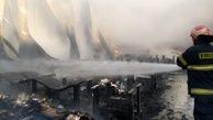 کارخانه تولید ماسک در خیرآباد ورامین در آتش سوخت