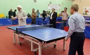 فیلم/ راکت به دست شدن امام جمعه آبادان و رییس فدراسیون تنیس روی میز