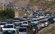 ترافیک سنگین در محور چالوس و انسداد شش محور مواصلاتی