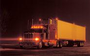 عاقبت خواب آلودگی راننده تریلی هنگام رانندگی در شب +فیلم