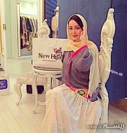 """تیپ جالب """"شیلا خداداد"""" در نمایشگاه حجاب جدید + عکس"""