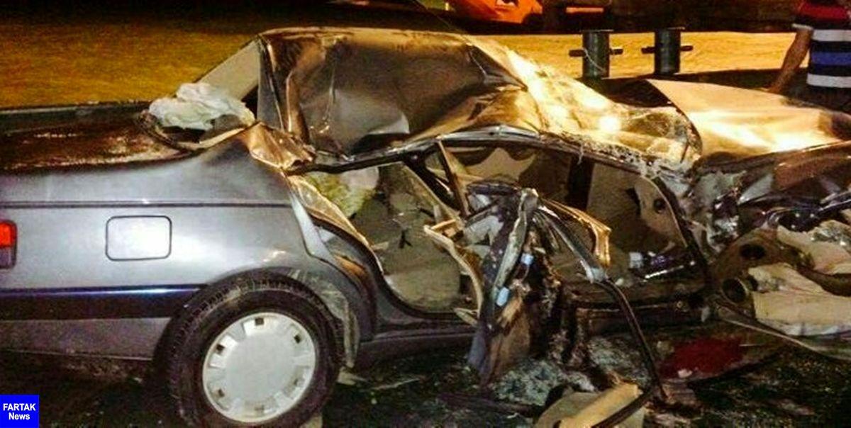 کشته و زخمی شدن 4 نفر در تصادف 2 سواری پژو در محور نجفآباد-تیران