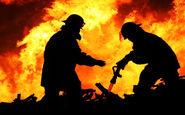آتش سوزی یک فروندکشتی فلزی در گناوه (+عکس)