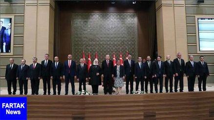کابینه جدید دولت ترکیه معرفی شد