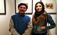 نیکی مظفری در نمایشگاه نقاشی حمید جبلی (عکس)