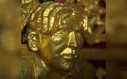 مجسمه طلایی دیوید بکهام در معبدی در تایلند