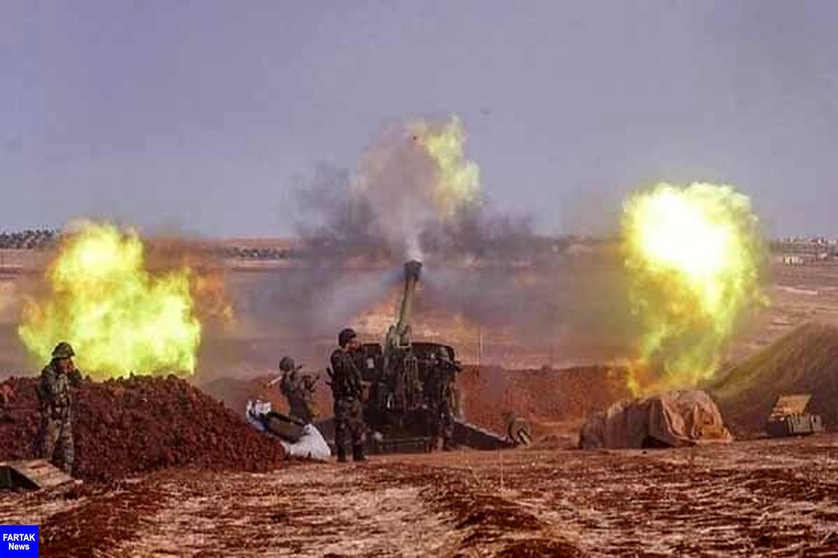 تبادل آتش توپخانهای میان ارتش ترکیه و سوریه در غرب حلب