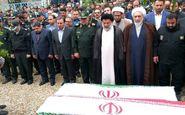 مراسم تشییع پیکر دو تن از نیروهای بنیاد مسکن اردبیل برگزار شد