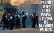 وزارت امور خارجه: آمریکا باید صدای مردمش را بشنود و سیاستهای شکستخوردهاش را تغییر دهد