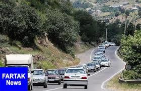 ترافیک پرحجم در جاده های شمالی