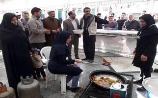 حضور گسترده زائران در موکب سیدالشهداء (س) آستان مقدس امامزاده باقر(ع) بیستون (به روایت تصویر)