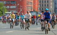 جشنوراه دوچرخهسواری مسکو با ۴۰ هزار شرکت کننده