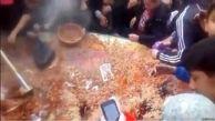 جنگ بر سر غذا در جشنواره پلو خوران تاجیکستان! +فیلم