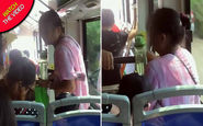 رفتار غیرمعقول زن سالخورده با کودک خردسال در داخل اتوبوس!