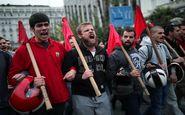 راهپیمایی هزاران یونانی مقابل سفارت آمریکا در آتن
