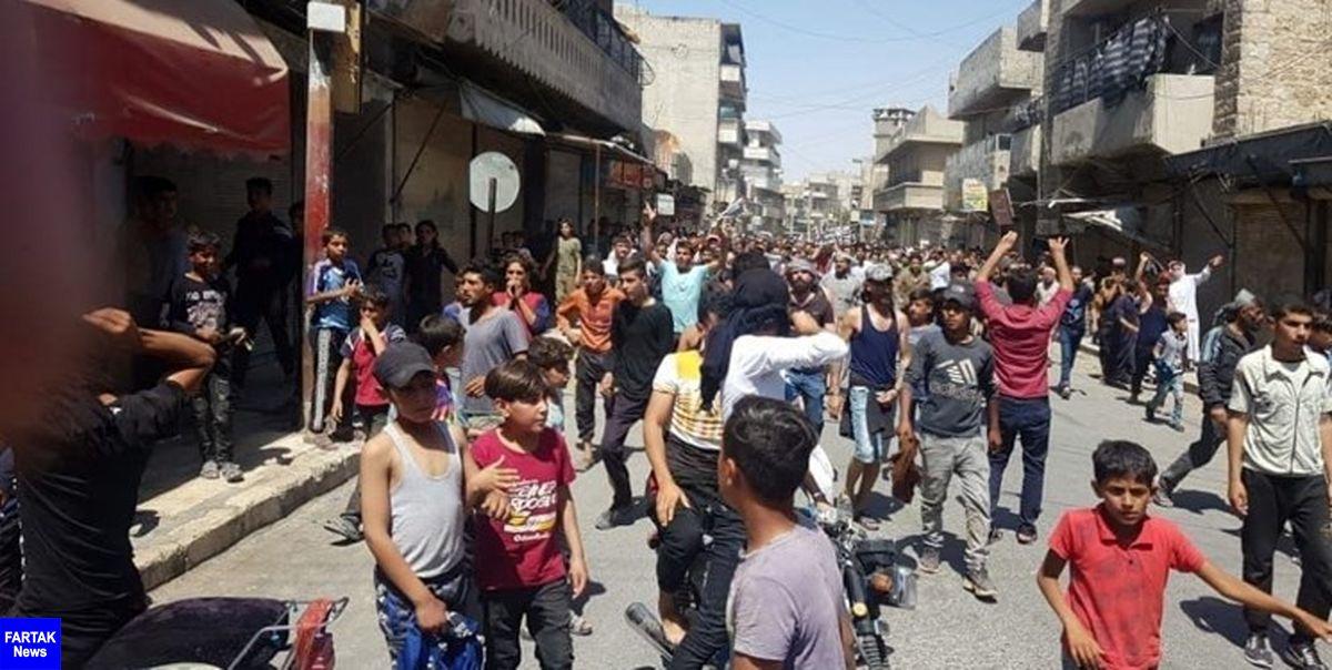 تظاهرات مردم سوریه علیه شبهنظامیان وابسته آمریکا؛ 5 تن کشته شدند