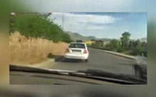 تعقیب و گریز خطرناک پلیس با پراید دزدی در خیابان دماوند