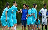 گزارش تمرین استقلال تشکیل حلقه اتحاد در روز پاداش مجیدی به بازیکنان/ بازگشت 2 مصدوم+عکس