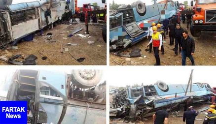 آخرین وضعیت جسمانی مصدومان تصادف اتوبوس دانش آموزان تبریزی