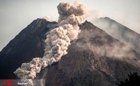 تصاویری فوق العاده از فوران آتشفشان کوه مراپی در اندونزی