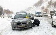 بارش برف محور سمنان-فیروزکوه مسدود کرد