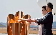 نمایش مشعل المپیک در فوکوشیما متوقف شد