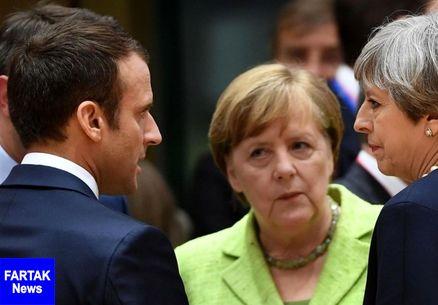 ماکرون: اتحادیه اروپا باید از شرکتها در برابر تحریمهای ضدایرانی آمریکا دفاع کند