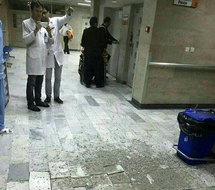 ریزش سقف بیمارستان امام خمینی (ره) ارومیه پس از وقوع زلزله + عکس