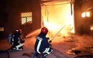 آتش سوزی بزرگ در بیمارستان امید اصفهان