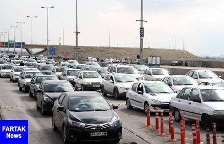 ترافیک از شرق استان تهران به شمال کشور سنگین است
