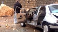 ریزش سنگ در جاده کندوان حادثه آفرید
