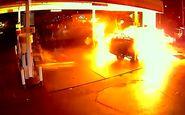 به آتش کشیده شدن پمپ بنزین توسط یک نوجوان+فیلم