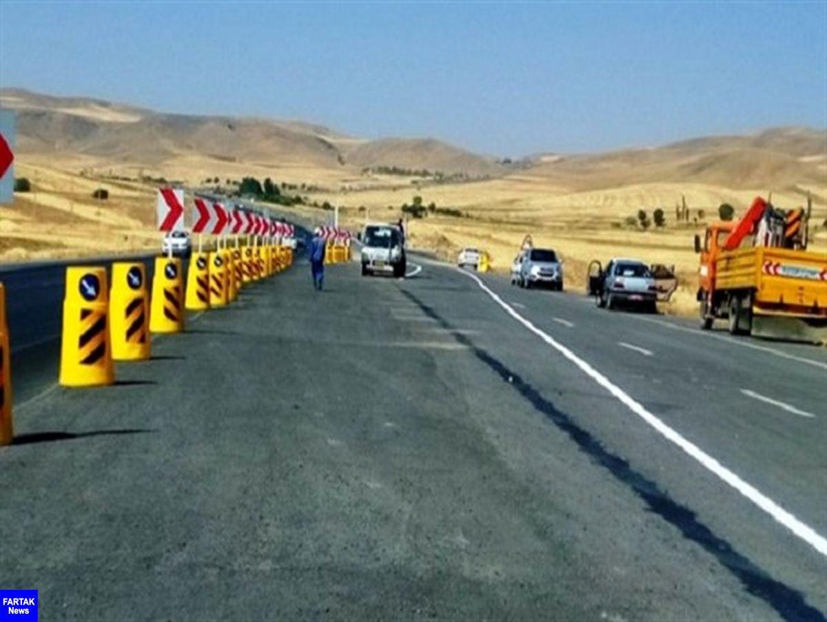 اصلاح ۶ نقطه پر حادثه جاده ای در کرمانشاه