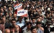خروش عظیم مردم سمنان در حمایت از آرمان فلسطین + فیلم