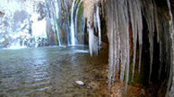 آبشار زیبای سمیرم یخ زد!