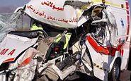 تصادف مرگبار یک کامیون با آمبولانس در گناباد