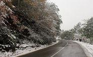 برف و باران در محورهای۷ استان/ یخ زدگی در محور شاهین دژ-تکاب