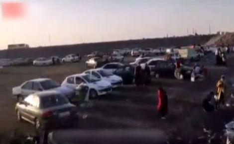 حضور دلهره آور مردم به سواحل دریاچه ارومیه + فیلم