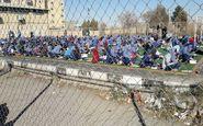عکس/ محل برگزاری آزمون دانشآموزان کرمانی پس از زلزله
