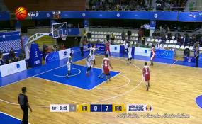 خلاصه بسکتبال ایران 83 - 53 عراق + فیلم