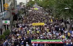 جاری شدن سیل قدرت و اتحاد در خیابانهای زنجان + فیلم