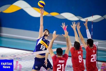 باخت تیم والیبال جوانان ایران مقابل ایتالیا