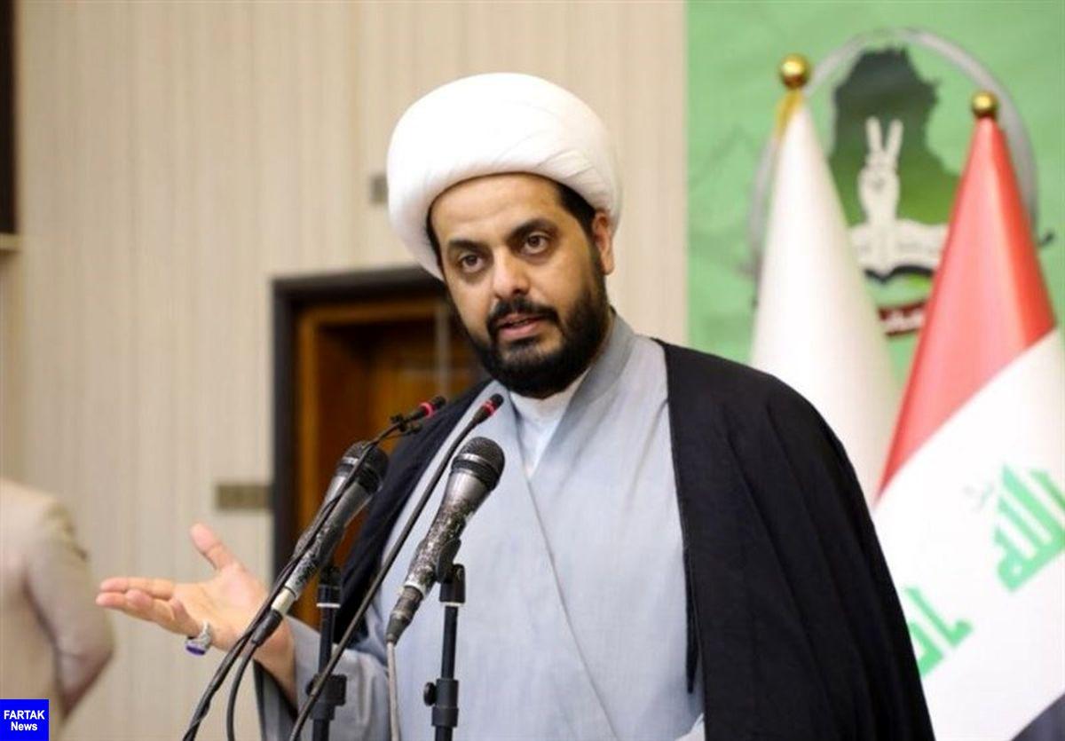 """""""الخزعلی"""": آمریکا و اسرائیل مسئول ریخته شدن خون عراقیها هستند"""