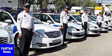 همراهی پلیس راهور با دستههای عزاداری
