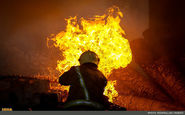 آتش سوزی در یکی از خیابان های تهران