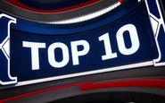 10 حرکت برتر بسکتبال NBA در بازی های امروز + فیلم