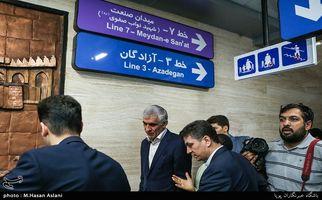 بازگشایی بخش میانی خط ۷ مترو تهران به روایت تصویر