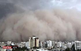 طوفان یزد از نمایی دیگر + فیلم