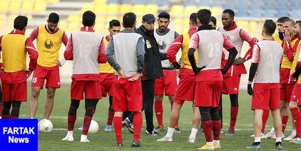 گزارش تمرین پرسپولیس/ مرور کارهای تاکتیکی و حضور گل محمدی در تمرین آقا وسط